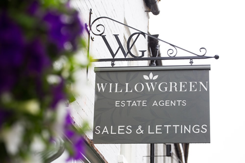 willow green sign