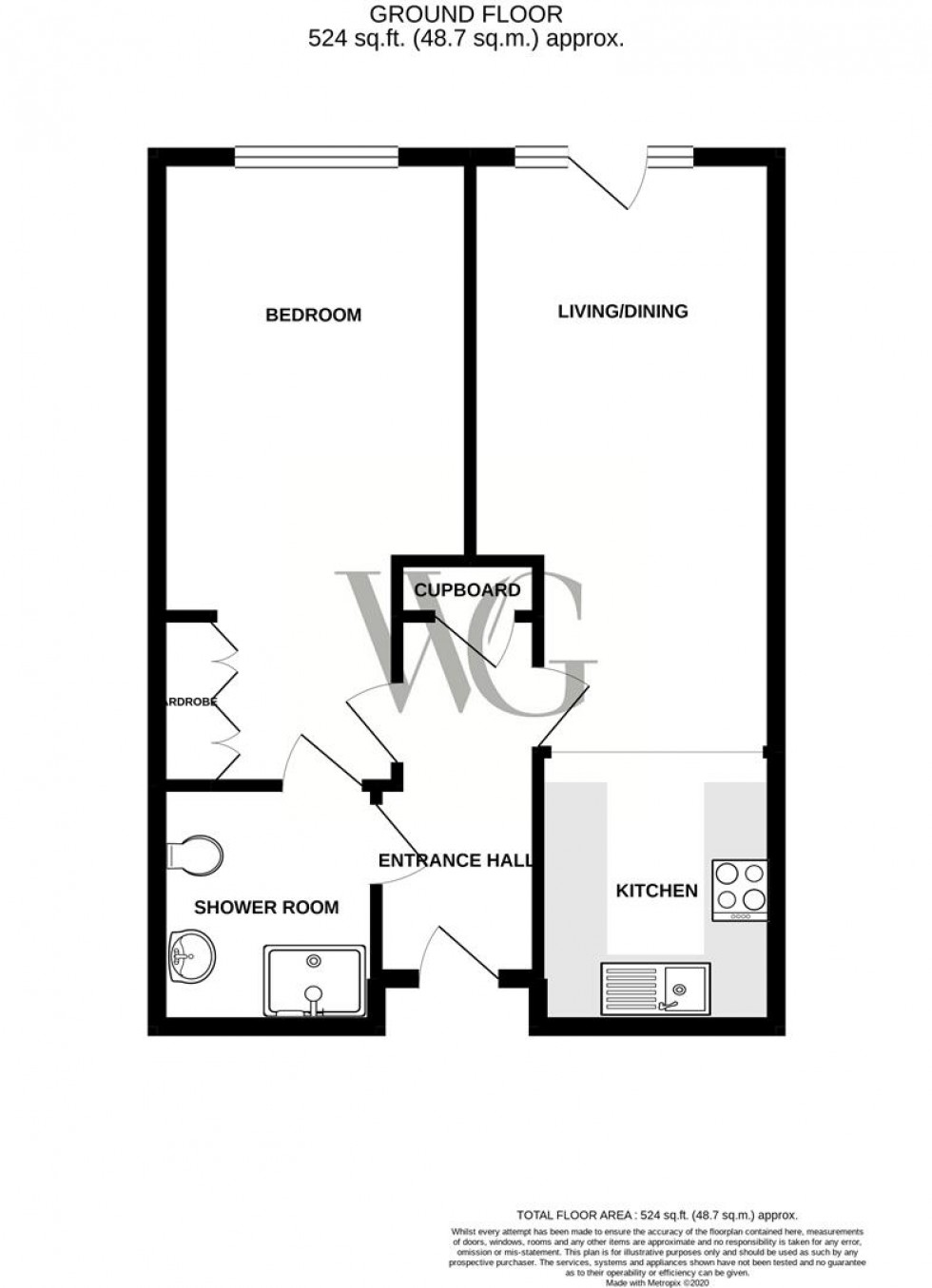Floorplan for Apartment 28, Mickle Hill, Pickering, North Yorkshire
