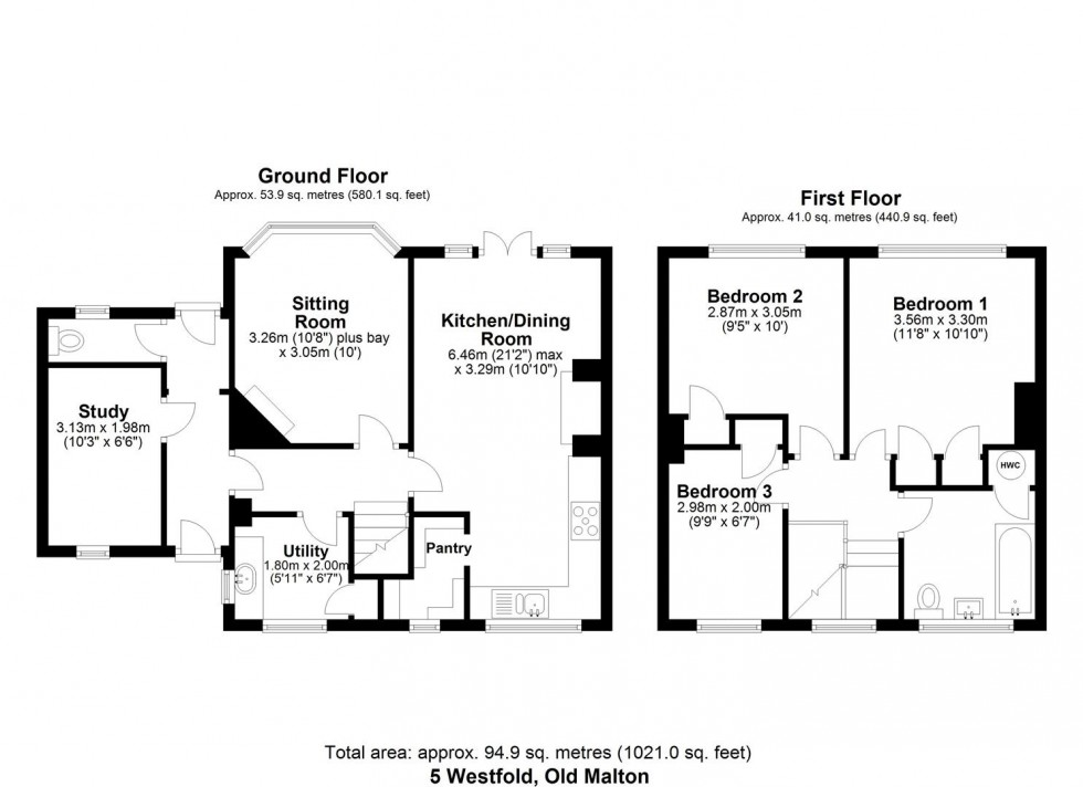Floorplan for 5 Westfold, Old Malton, Malton, YO17 7HG