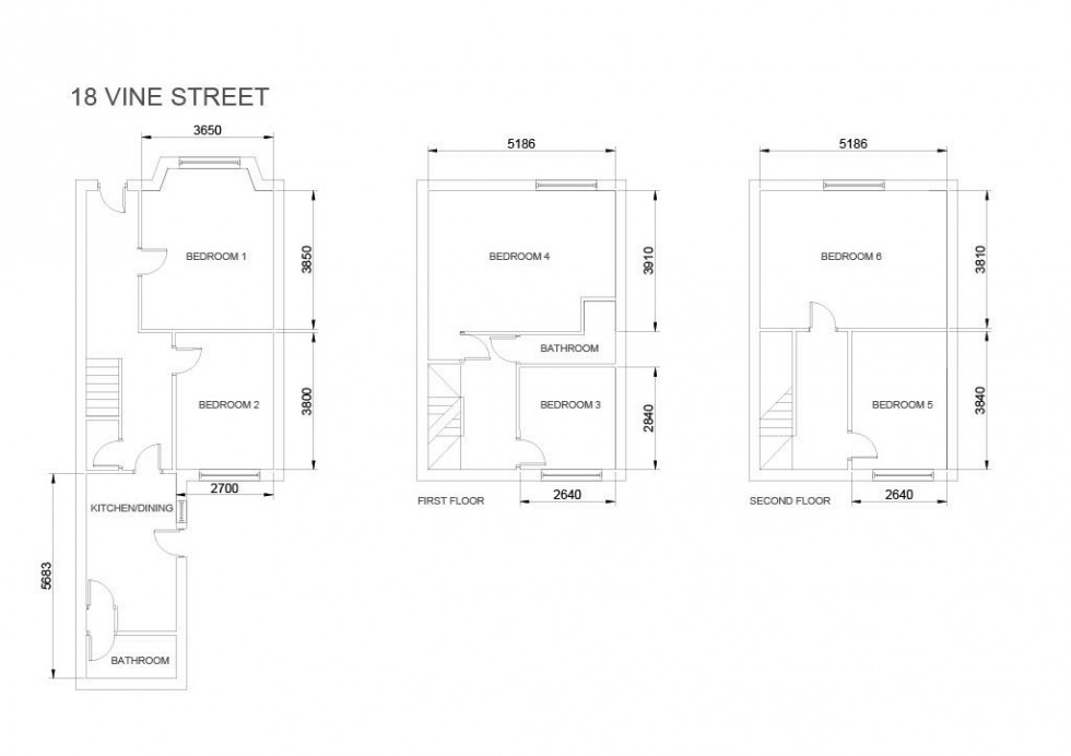 Floorplan for 18, Vine Street, Norton, Malton YO17 9JD