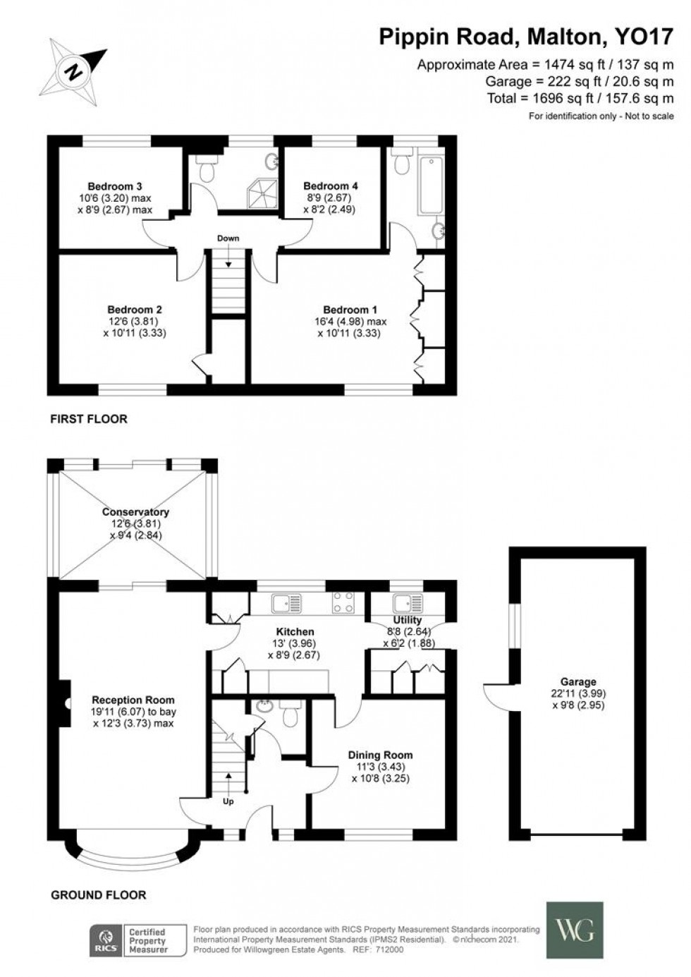 Floorplan for 10, Pippin Road, Malton, North Yorkshire, YO17 7YT